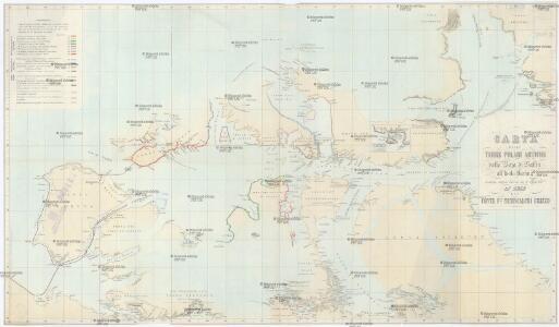 Carta delle Terre polari Artiche dalla Baja di Baffin all'Isola Baring