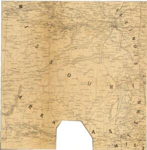 Prang's War Map. Missouri