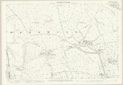 Derbyshire XV.11 (includes: Wormhill) - 25 Inch Map