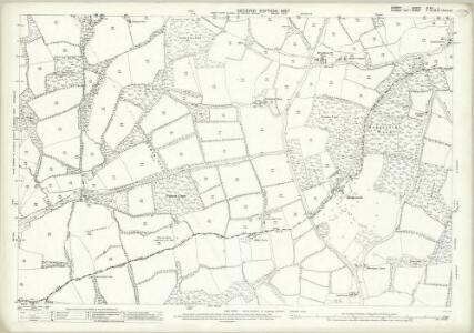 Surrey XLVII.1 (includes: Abinger; Rudgwick) - 25 Inch Map
