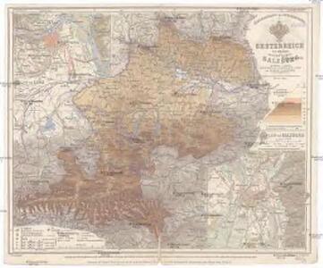 Schulhandkarte des Erzherzogthumes Oesterreich ob der Enns und des Herzogthumes Salzburg