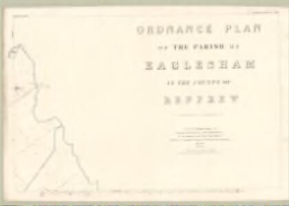 Renfrew, Sheet XVII.15 (Eaglesham) - OS 25 Inch map