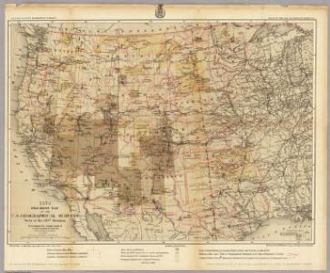 1878. Progress Map Of The U.S. Geographical Surveys West Of The 100th Meridian.