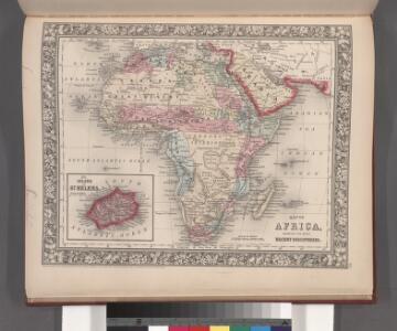 Map of Africa, showing its most recent discoveries ; Island of St. Helena [inset].
