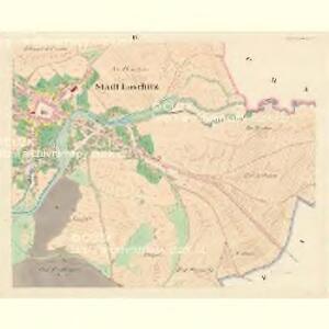 Loschitz (Lossice) - m1608-1-004 - Kaiserpflichtexemplar der Landkarten des stabilen Katasters