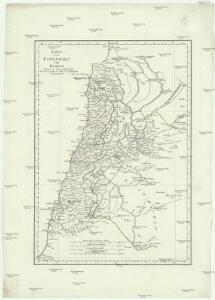 Karte von Phoenicien und Damask