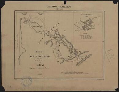 Mission Galliéni 1880-1881. Itinéraire de Dio à Bammako
