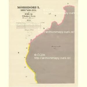 Möhrdörfel (Miruweczek) - m1816-1-002 - Kaiserpflichtexemplar der Landkarten des stabilen Katasters