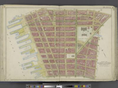 Manhattan, Double Page Plate No. 2 [Map bounded by Jay St., Thomas St., Pearl St., William St., Liberty St., Hudson River]