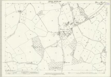 Suffolk LXXIX.6 (includes: Ballingdon; Bulmer; Great Henny; Little Henny; Middleton) - 25 Inch Map