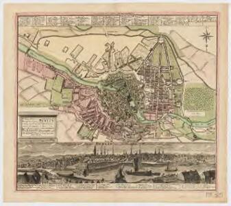 Die. Königl. Preus. u. Churf. Brandenburg Residenz-Stadt Berlin = : Regiae Borvss & Elector Brandenb. sedis Berolini