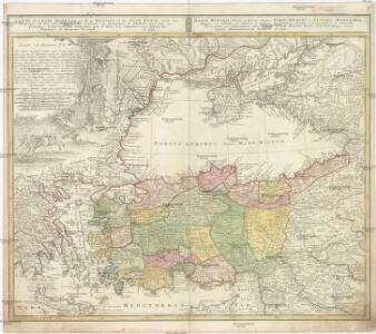 Carte de l'Asie Minevre ou de la Natolie et du Pont Evxin