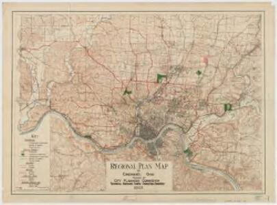 Regional plan map of Cincinnati, Ohio