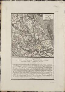 Bataille de Creveld entre les alliés commandés par le Duc Ferdinand de Brunswic & les français aux ordres du Comte de Clermont le 23 Juin 1758