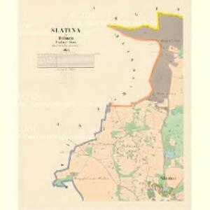 Slatina - c7000-1-001 - Kaiserpflichtexemplar der Landkarten des stabilen Katasters