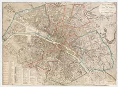Plan routier de la ville de Paris : divisé en 12 arrondissemens et 48 quartiers