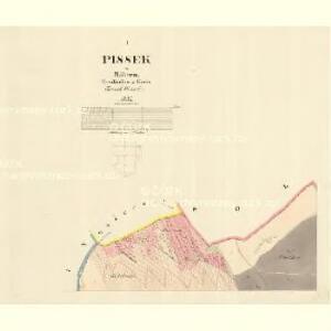 Pissek - m1881-1-001 - Kaiserpflichtexemplar der Landkarten des stabilen Katasters
