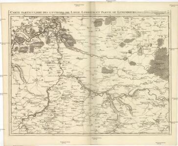Carte particuliere des environs de Liege, Limbourg, et partie de Luxembourg