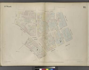 Plate 11: Map bounded by Cliff Street, Frankfort Street, Pearl Street, Oak Street, Roosevelt Street, South Street, Peck Slip, Ferry Street