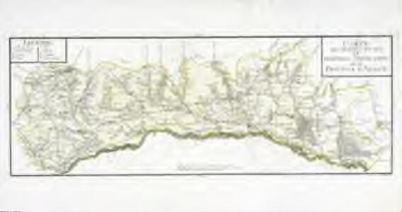 Carte des grandes routes et principales comunications de la province d'Alsace