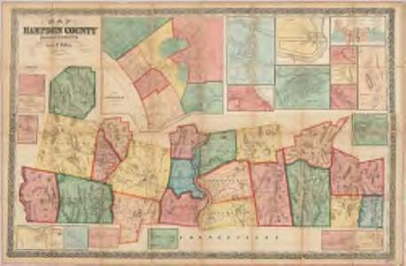 Map of Hampden County, Massachusetts : based upon the trigonometrical survey of the state