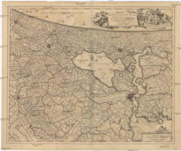 RHENOLANDIA, AMSTELANDIA Et Circumjacentia aliquot Territoria, cum Aggeribus omnibus Terminisq. suis