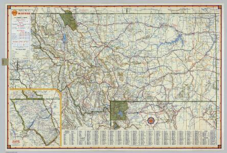 Shell Highway Map of Montana.