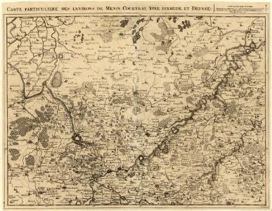 Carte Particuliere des environs de Menin, Courtray, Ypre, Dixmude et Deynse