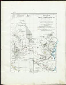 Originalkarte von Burton's und Speke's Entdeckungen in Innerafrika 1857 u. 1858