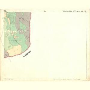 Chodenschloss - c7957-1-011 - Kaiserpflichtexemplar der Landkarten des stabilen Katasters