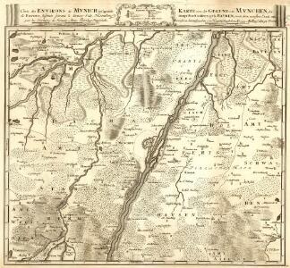 Carte des Environs de Mvnich la Capitale de Baviere