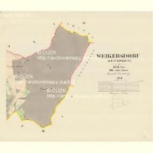 Weikersdorf (Wigyrowice) - m3401-1-004 - Kaiserpflichtexemplar der Landkarten des stabilen Katasters