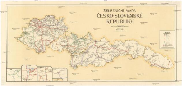Zeleznicni Mapa Cesko Slovenske Republiky