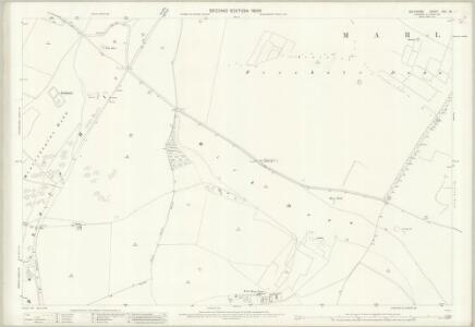 Wiltshire XXII.15 (includes: Berwick Bassett; Broad Hinton; Ogbourne St Andrew; Preshute; Winterbourne Bassett) - 25 Inch Map