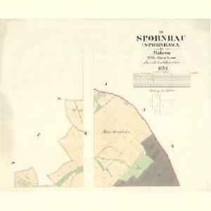 Spronhau (Spornhawa) - m2197-1-003 - Kaiserpflichtexemplar der Landkarten des stabilen Katasters