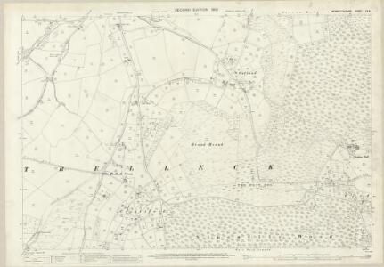 Monmouthshire XX.8 (includes: Trelech United) - 25 Inch Map