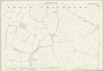 Huntingdonshire XXV.1 (includes: Great Staughton; Hail Weston) - 25 Inch Map
