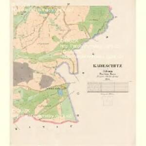 Kadeschitz - c2968-1-004 - Kaiserpflichtexemplar der Landkarten des stabilen Katasters
