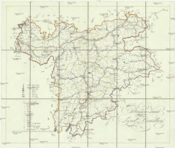 Strassen Karte von Tyrol und Vorarlberg