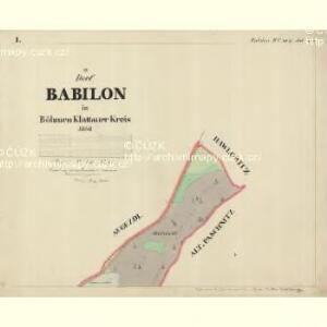 Babilon - c0053-1-001 - Kaiserpflichtexemplar der Landkarten des stabilen Katasters