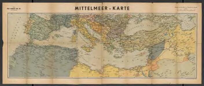 Metzer karten der Mittelmeer Raum
