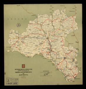 Mapa de la 2a demarcació de Barcelona. 19 febrer 1936 / Generalitat de Catalunya. Obres Públiques