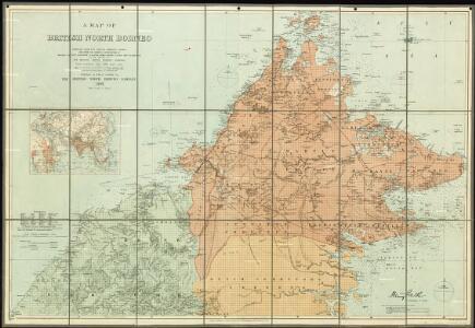 A map of British North Borneo.