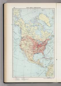 178.  North America, Communications.  The World Atlas.