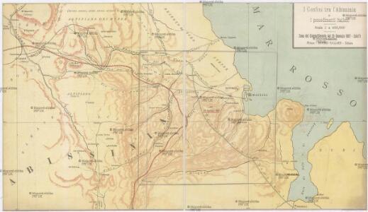 I confini tra l'Abissinia e i possedimenti italiani