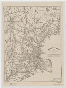 Railway map of the New England states : prepared expressly for the Pathfinder railway guide