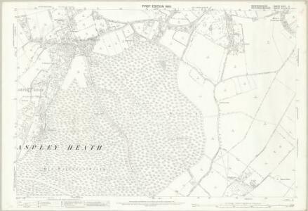 Bedfordshire XXIV.3 (includes: Aspley Guise; Aspley Heath; Husborne Crawley; Wavendon; Woburn Sands; Woburn) - 25 Inch Map
