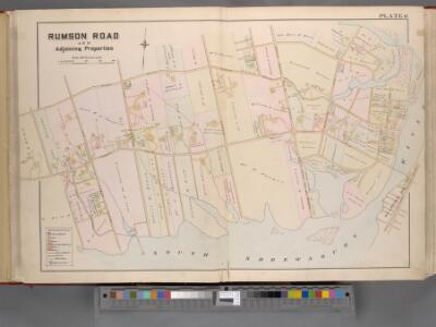 Monmouth County, Double Page Plate No. 6 [Map of Rumson Rd., and Adjaining Properties]