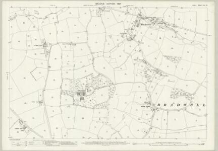 Essex (1st Ed/Rev 1862-96) XXV.16 (includes: Bradwell; Cressing; Stisted) - 25 Inch Map
