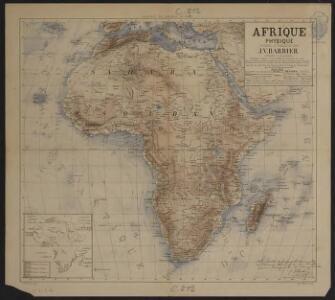 Afrique physique dressée et dessinée par J.V. Barbier
